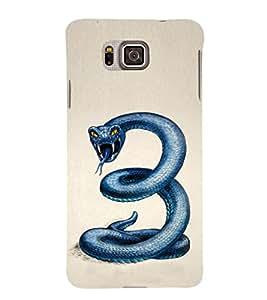 EPICCASE Blue Viper Mobile Back Case Cover For Samsung Galaxy Alpha (Designer Case)