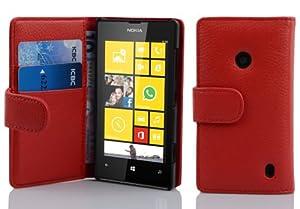Etui Housse Coque en PU Cuir BooK Style pour Nokia Lumia 520 in rouge