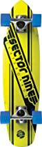 Sector 9 The 76 Complete Skateboard, Yellow, 7.25-Inch x 27.75-Inch