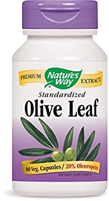 Natures Way Olive Leaf, 20% 60 Vegicaps by Nature's Way