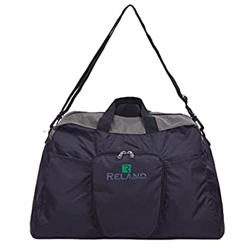 Reland Travel Duffel Bag Foldable Duffle Carry-On Lightweight Luggage Sports Gym for Men & Women