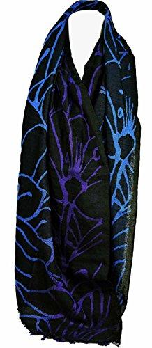 guy-laroche-robo-la-flor-de-ventana-en-negro-azul-purpura
