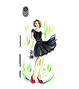 Fashionable Girl 3D Hard Polycarbonate Designer Back Case Cover for Sony Xperia Z5 Premium (5.5 Inches) :: Sony Xperia Z5 Premium Dual