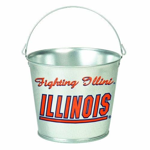 NCAA Illinois Fighting Illini 5-Quart Galvanized Pail
