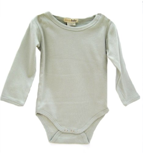 L'Ovedbaby Long-Sleeve Bodysuit, Green 9-12 Months front-697012