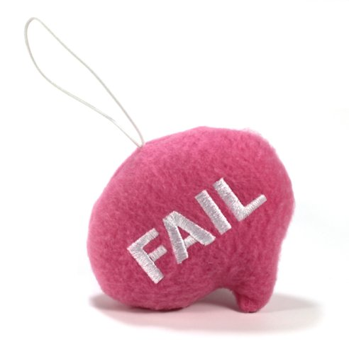 "Throwboy Throwbabies ""FAIL"" Chat Mini 3.5"" Throw Pillow, Pink - 1"