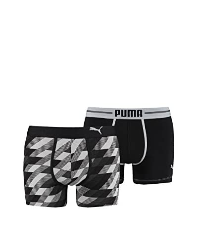 Puma Pack x 4 Bóxers Remaster Argyle Print Azul