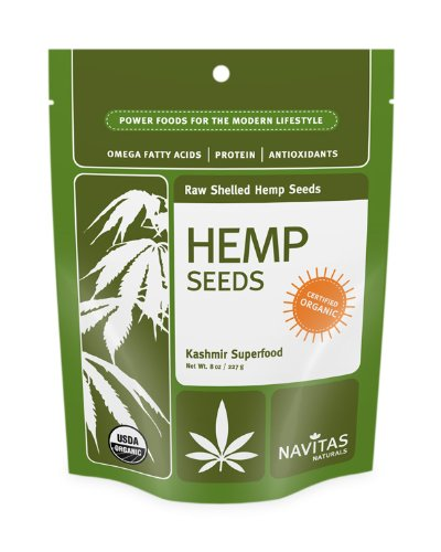 Navitas Naturals Hemp Seeds Shelled, 8-Ounce