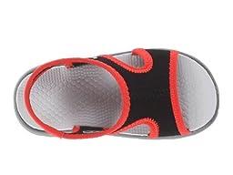 Nike Kids Baby Boy\'s Sunray 9 (Infant/Toddler) Black/Light Crimson/Wolf Grey Sandal 4 Toddler M