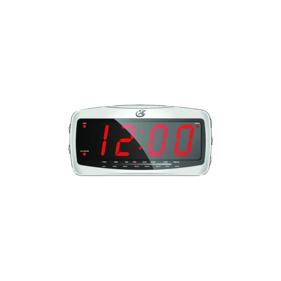 GPX CR 2307 dpi CR2307 Clock Radio LED Alarm Am FM 1 8 LED Display
