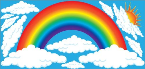 Rainbow decals for walls