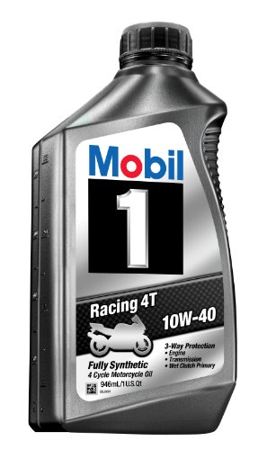 Mobil 1 98JA11 10W-40 Racing 4T Motorcycle Oil for Sport Bikes - 1 Quart (Pack of 6) (Mobile 1 Motorcycle Synthetic Oil compare prices)