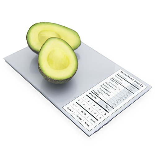 Perfect Portions Digital Scale + Nutrition Facts Display, Silver (Food Calorie Scale compare prices)
