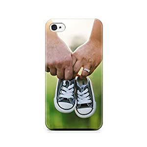 Motivatebox-Apple Iphone 5/5s cover-Small Shoes Polycarbonate 3D Hard case protective back cover. Premium Quality designer Printed 3D Matte finish hard case back cover.
