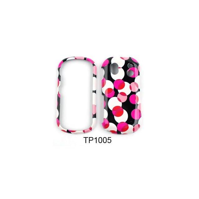 Samsung Intensity II u460 Muiti Pink Polka Dots on Black Hard Case/Cover/Faceplate/Snap On/Housing/Protector