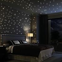 Wandtattoo: 203 Stück leuchtende Sterne ...