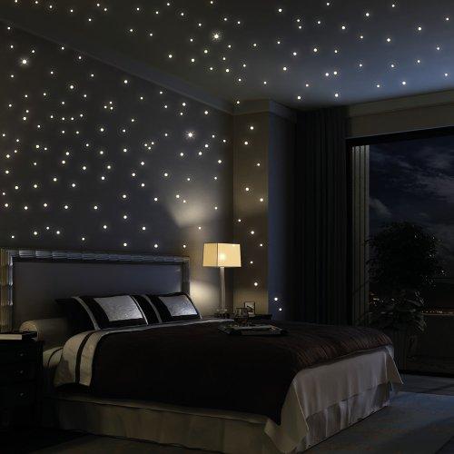 Wandtattoo: 203 Stück leuchtende Sterne (als Punkte dargestellt ...