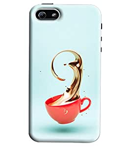Blue Throat Red Cup With Coffee Printed Designer Back Cover/Case For Apple iPhone 5