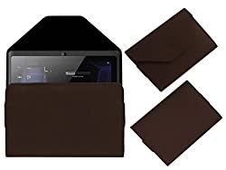 Acm Premium Pouch Case For Vizio Vz K01 Tablet Flip Flap Cover Holder Brown