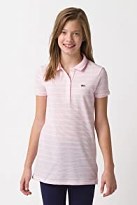 Girl's Short Sleeve Fine Stripe Tunic Polo
