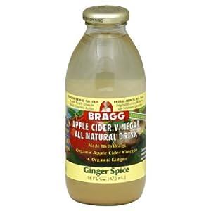 Organic Apple Cider Vinegar Drink - Ginger Spice Bragg 16 oz Liquid
