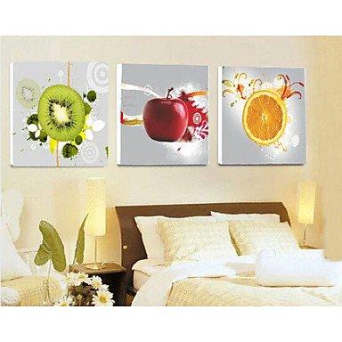 Generico CHINT Stampe Poster pittura cucina moderna frutti parete Stampa su tela 3pz/set (senza telaio) , pittura solo NL3392