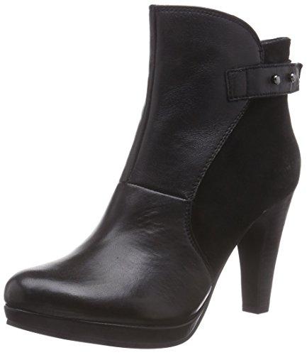 SPM Ditaag Ankle Boot, Stivali classici imbottiti a gamba corta donna, Nero (Schwarz (Black/Black)), 40