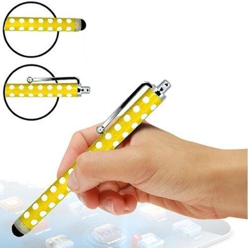 Sleek Gadget - gelbe Punkte Eingabestift Premium Edition mit weicher Gummispitze für Samsung Galaxy Tab 3 7.0 P3210 SM-T210