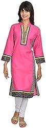 Goodyygoods Women's Cotton Regular Fit Kurti (GG 56, Pink, X-Large)