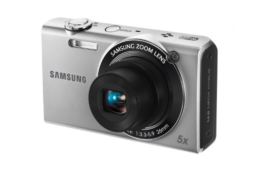 Black Friday Samsung EC-SH100 Wi-Fi Digital Camera with 14 MP, 5x Optical Zoom and Touchscreen (Silver) Deals