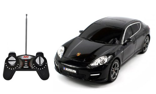 Porsche Panamera Turbo R/C Radio Remote Control Car 1:18 Scale (Black)