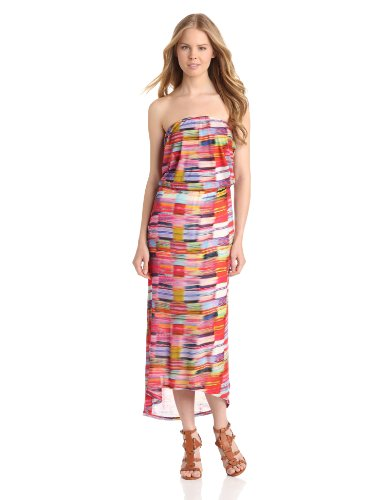 VELVET BY GRAHAM & SPENCER Women's Biarritz Strapless Maxi Dress, Multi, Medium