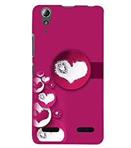 PRINTSWAG BUBBLE HEARTS Designer Back Cover Case for LENNOVO A6000