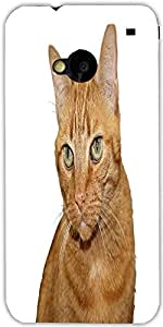Snoogg Cat Designer Protective Back Case Cover For Htc One M7