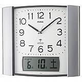 MAG (マグ) ウォールクロック 電波時計 オベリスク W-438 SM (銀メタリック)