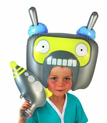 Spielzeug Set Aufblasbar Roboter Kopf Blaster Kind  Hersteller all4yourparty