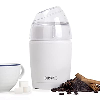 Duronic CG150 White 150W Coffee / Nut / Spices / Herbs Grinder - Stainless Steel Blades - 2 Years Warranty by Duronic