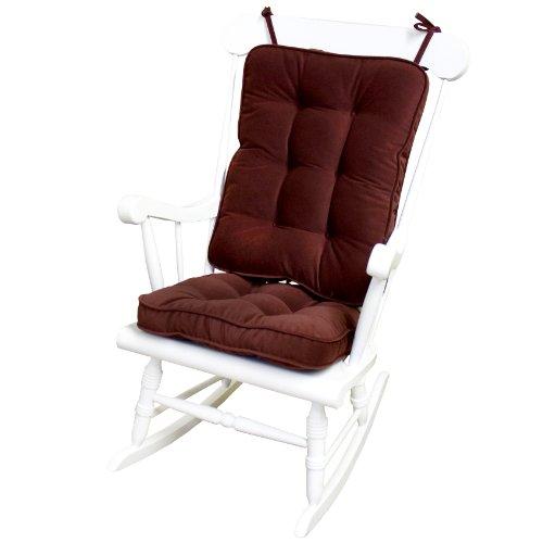 Greendale Home Fashions Standard Rocking Chair Cushion Hyatt Fabric, Burgundy