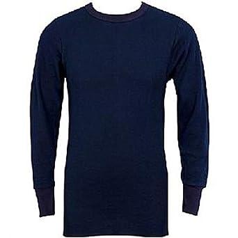 Indera - Mens Icetex Dual Face Fleeced Thermal Long John Top 286LS, Navy Blue 23489-Small