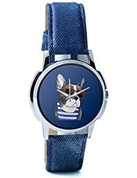 BigOwl Attractive Summer Style Dog Men's Analog Wrist Watch 2003648302-RS1-W-BLU