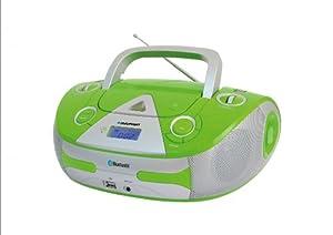 Blaupunkt B 30e radio lecteur CD/MP3 portable, connectivité Bluetooth pour écouter de la musique en streaming, port USB, AUX-IN/MP3 Link, faible consommation en stand by, couleur vert fluo hyper tendance (Import Allemagne)