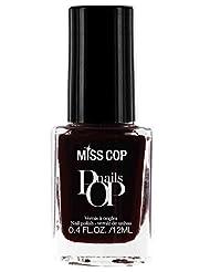 Miss Cop Vernis à Ongles Pop Nails Rouge Bordeaux 12 ml - Lot de 2
