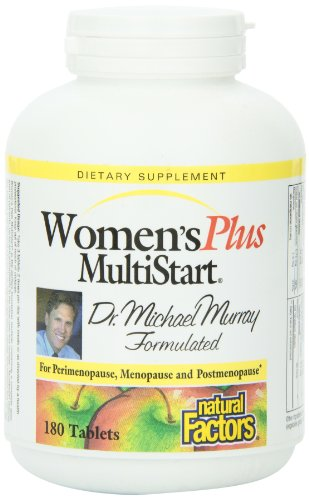 Natural Factors Dr. Murray Multistart Womens Plus ,Tablets, 180-Count