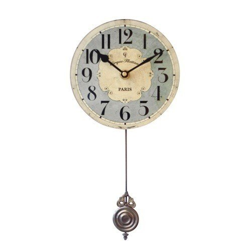Floating Circus Wall Clock, 6-Inch, Flottant Blue