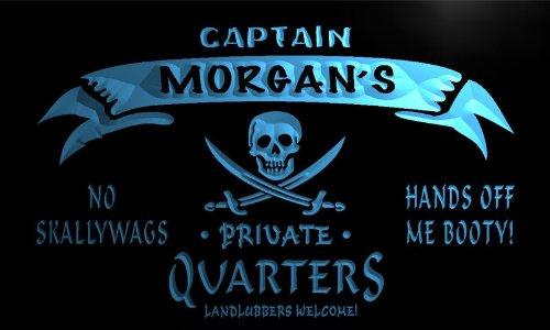 Pw508-B Morgan'S Captain Private Quarters Skull Bar Beer Neon Light Sign