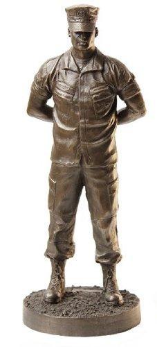 Khaki-Army USA Marine Parade Rest Bronze Cold Cast Resin Statue, 7-Inch (Bronze Resin Statue compare prices)