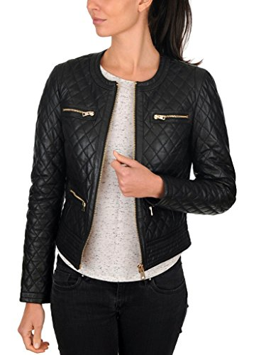 Syedan Black Leather Women'S Jacket