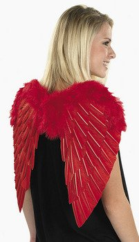 Red Real Feather and Marabou Wings