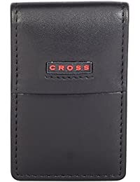 Cross® Men's 100% Genuine Leather Money Clip CR Range - Black & Inside - Scarlet Red (AC048073-4)
