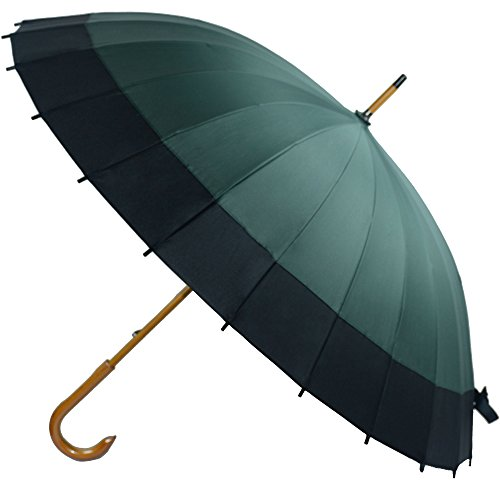 Kung Fu Smith Vintage Large Japanese Windproof Wooden Rain Umbrella 0